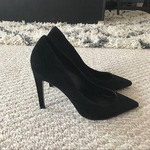 Topshop Shoes - Topshop Classic Black suede pumps heels